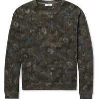 Valentino - Flower and Camouflage-Print Cotton-Jersey Sweatshirt | MR PORTER