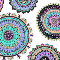 Bright Mandala Art Print by kelsey flones