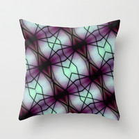 Futuristic Space Geometric Pattern Throw Pillow by Danflcreativo