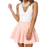White Lace Sleeveless Fitted Top