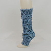 Grey Leg Warmer Women Cable Knit Dance Ballet 80s Boot Lounge Cuff Legwarmer Long