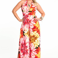 PLUS SIZE TROPICAL PARADISE JUMPSUIT