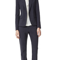 THEORY Charcoal Gabe B 2 Jacket & Max 2 Pant in Urban Stretch Wool