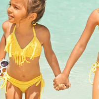 The Girl and The Water - Baby L*Space Swim - Fringe Bikini / Daffodil - $79