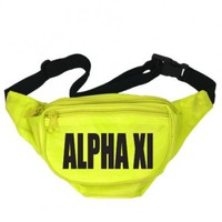 Alpha Xi Delta Neon Nickname Fanny Pack | Great Pricing | Customize Now