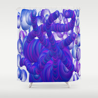Purple & Blue Bubble Mass Shower Curtain by One Artsy Momma