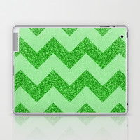 Chevron Jade Laptop & iPad Skin by Alice Gosling