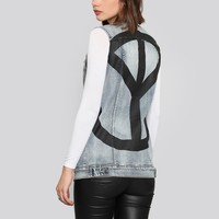PEACE BACK BOYFRIEND VEST