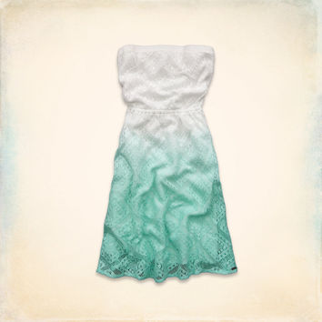 Seal Beach Strapless Lace Dress
