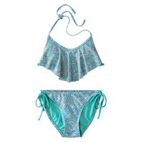 Xhilaration® Junior's Hanky 2-Piece Swimsuit -Blue