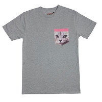 CAT POCKET TEE GREY – Odd Future