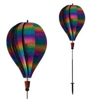 Rainbow Whirl 10 Panel Hot Air Balloon Ground Spinner