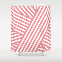 Coral Bandaids Shower Curtain by House of Jennifer