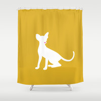 Cat Silhouettes: Oriental Shower Curtain by CAPow!