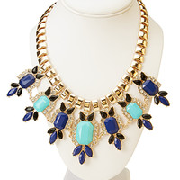 Posh Bejeweled Statement Necklace