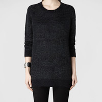 Womens Squro Jumper Dress (Ink) | ALLSAINTS.com