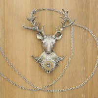 Deer Necklace, Bullet Deer Necklace, Hunting Necklace, Bullet Necklace, Bullet Jewelry, Outlaw Glam