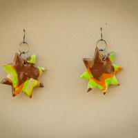 COLORFUL HAWAIIAN SUNSET EARRINGS