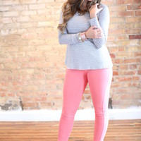 Perfect Fit Jeggings Pink