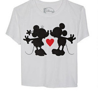Mickey Minnie Kiss Tee
