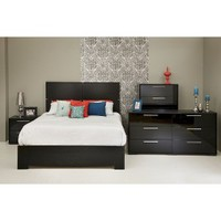 Mikka Headboard - Black Oak (Queen)