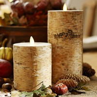 FLAMELESS FLICKER BIRCH PILLAR CANDLES
