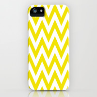 Chevronzag in Mustard Yellow iPhone & iPod Case by House of Jennifer