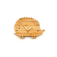 I liked this design on #Fab. Hedgehog Clock Small