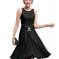 Ever Pretty Padded Rhinestones Ruffles Short Bridesmaid Womens Party Dress 03521