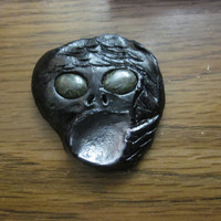 Vomiting Mercury Face - clay figure face Magnet 3.5 inches