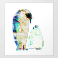 Remix Emperor Penguins Art Print by Ben Geiger