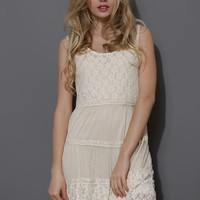 Dreamy Lace Sleeveless Dress in Ivory
