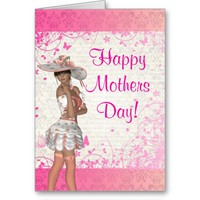 Pretty pink girl romantic mothers day