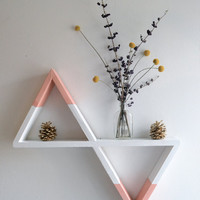 Geometric Shelf (White and Peach)