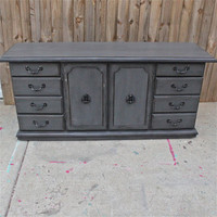 Grey Dresser/ Buffet/ Credenza Custom Paint to Order/ Pick Your Color/ Furniture/ TV Stand/ Storage/ Dining Room Furniture/ Distressed