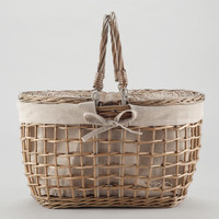 Gray Willow Picnic Basket
