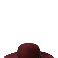 Posh Wool Wide-Brim Hat