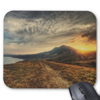 Crimea Landscape and Golden Sunset Mousepad