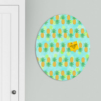 Lisa Argyropoulos Pineapples And Polka Dots Oval Magnet Board
