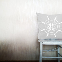 Monogrammed pillows decorative throw pillows skipper monogram letter pillows monogrammed throw pillows outdoor pillows 12x12 inches pillows