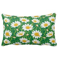 Yellow Daisy Flower Pillow