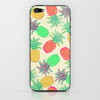 Pineapple Pandemonium (multi) iPhone & iPod Skin by Lisa Argyropoulos