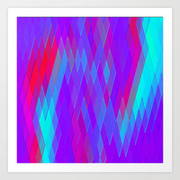 Re-Created Vertices No. 17 Art Print by Robert S. Lee