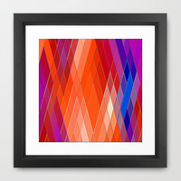Re-Created Vertices No. 18 Framed Art Print by Robert S. Lee