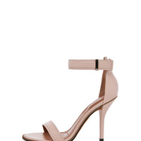 Giuliana Leather Zip Around Heels in Nude