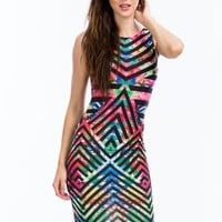 Butterfly Effect Chevron Stripe Dress - GoJane.com
