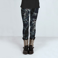 Fractal Space Pattern by Daniel Ferreira-Leites (Leggings)