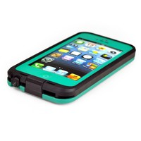 New Waterproof Shockproof Dirtproof Snowproof Protection Case Cover for Apple Iphone 5 (Teal)