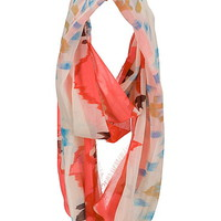 multi color tribal print infinity scarf