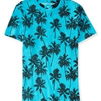 Reverse-Print Palm Tree Graphic T